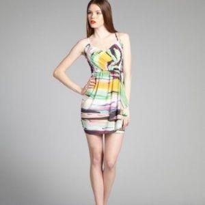 Shoshana Faux Wrap Dress Water Color
